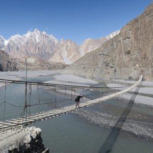 husaini suspension bridge