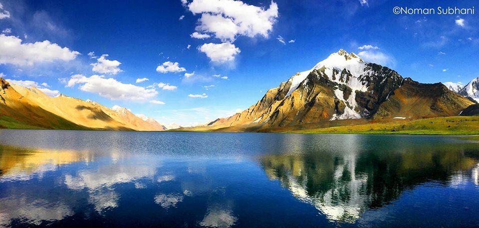 karambar lake reflective