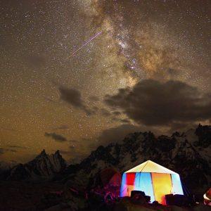 starry night camping